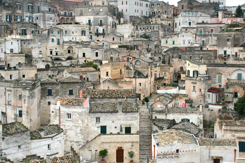 一个历史意大利镇的全景 库存照片