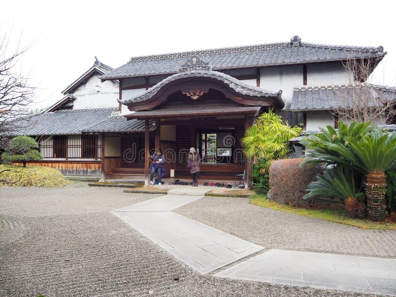 一个历史木房子 库存照片