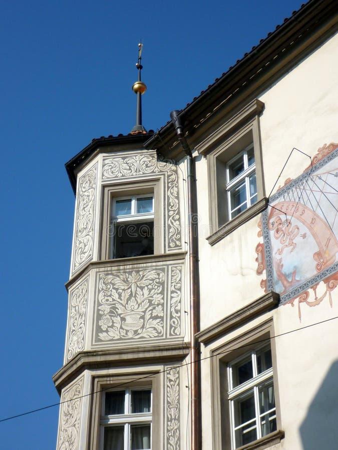 一个历史的布拉格公寓的细节,捷克 免版税库存照片