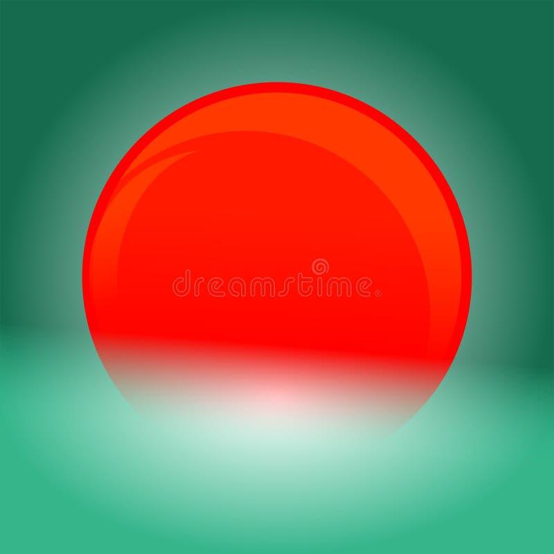 一个发光的红色球 库存图片