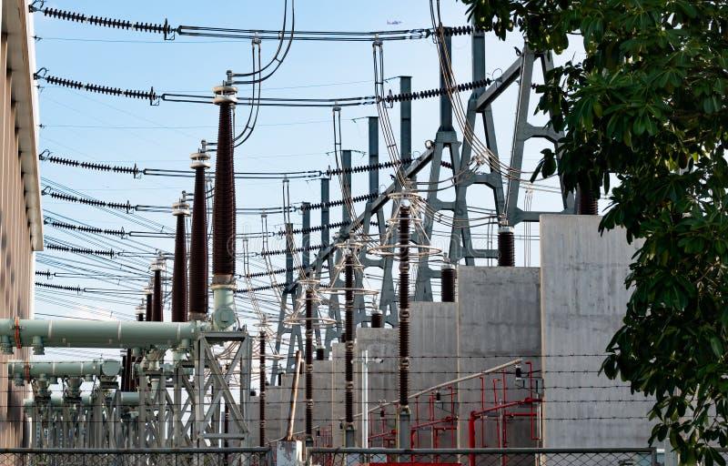 一个发电站的详细的射击在泰国的 免版税库存照片