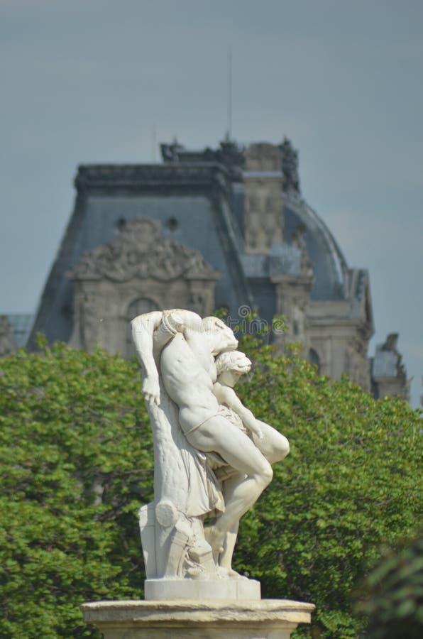 一个古典大理石象在巴黎 库存图片
