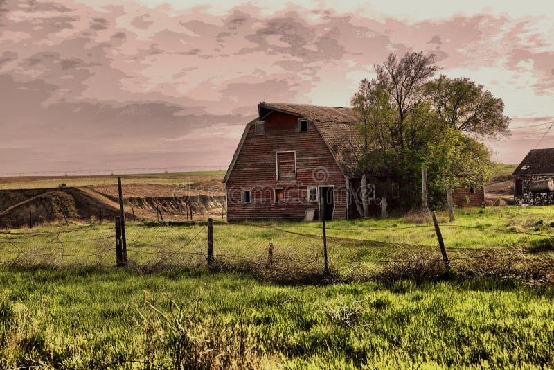 一个古国谷仓 免版税库存照片