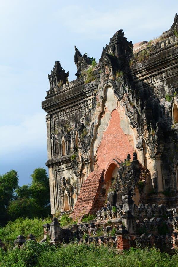 一个古老宫殿的细节废墟的 阿瓦 曼德勒地区 缅甸 库存照片