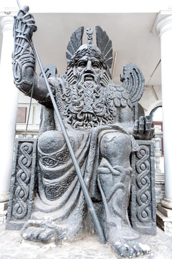 一个古老战士雕象在Odesa乌克兰 免版税库存图片
