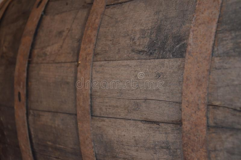 一个古老葡萄酒桶 图库摄影