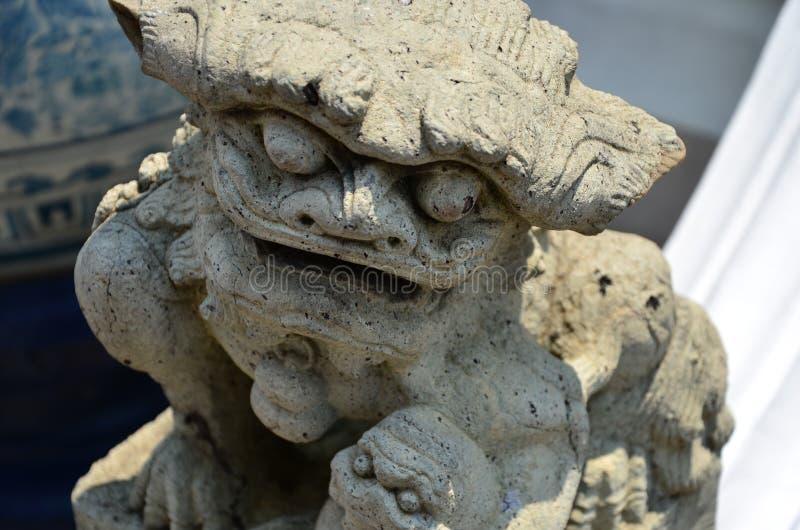 一个古老雕塑-旧世界的艺术 库存照片