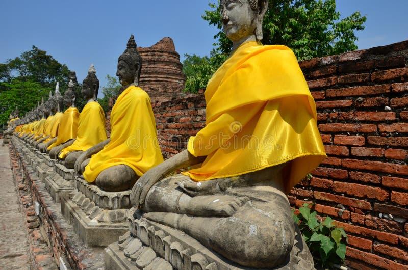 一个古老雕塑- buddhas谷  库存照片