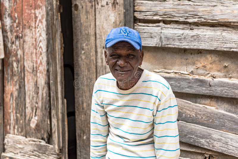 一个古巴人的画象 库存照片