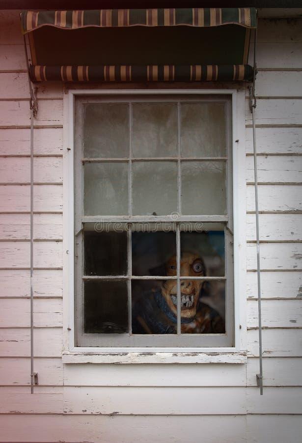 一个可怕妖怪的恐怖场面 免版税库存照片