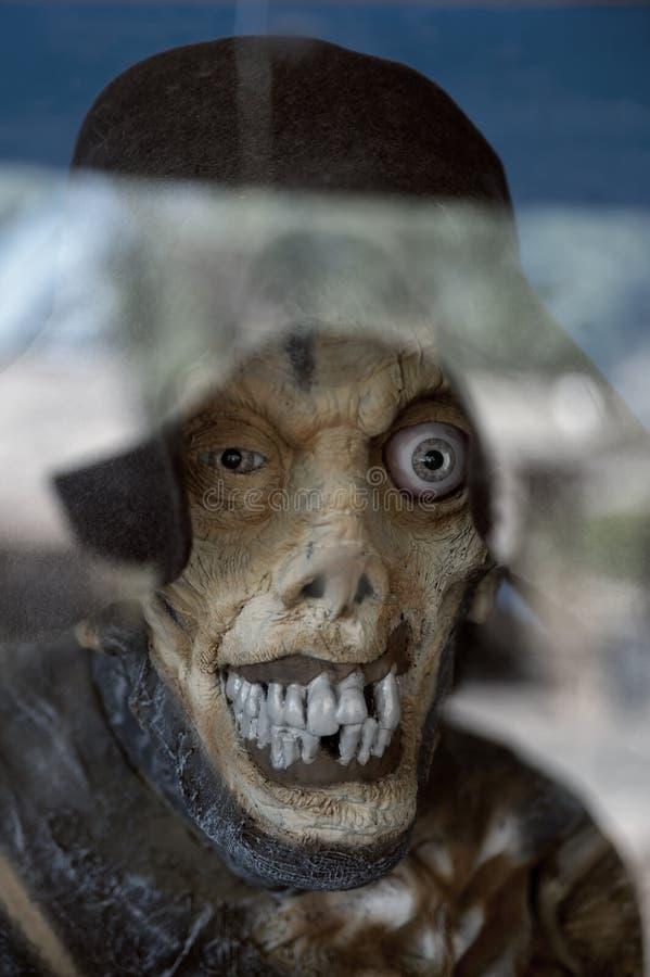 一个可怕妖怪的恐怖场面 免版税图库摄影