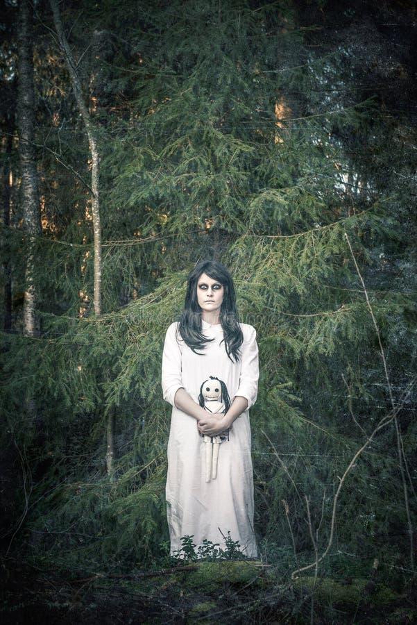一个可怕鬼魂女孩 免版税图库摄影