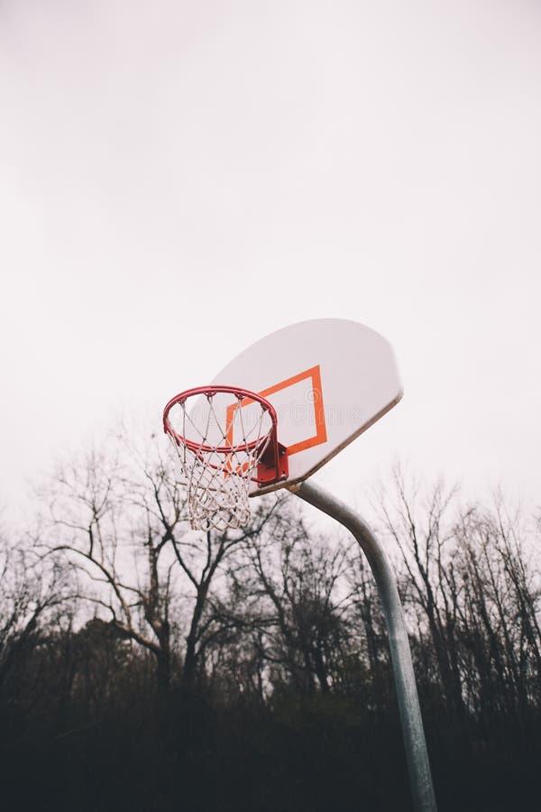 一个喜怒无常的篮球目标 库存照片