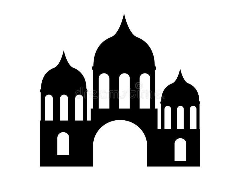 一个回教城市清真寺的剪影图片 皇族释放例证