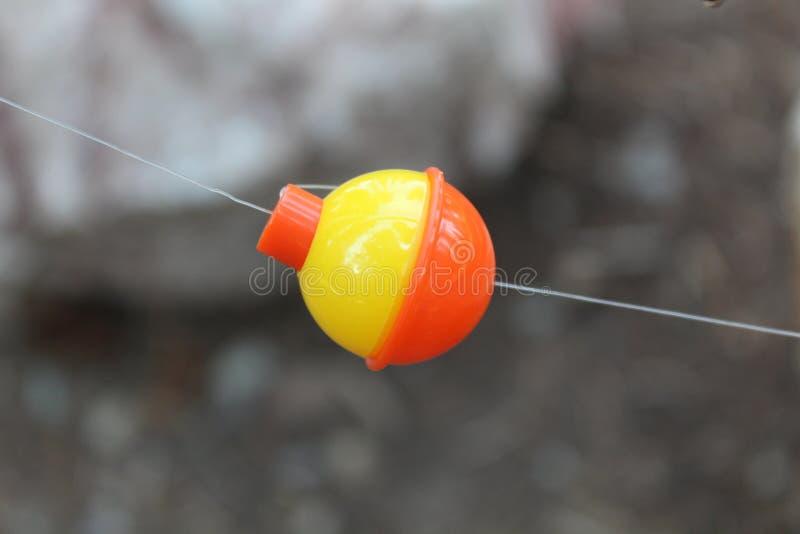 一个圆的渔浮子 库存图片