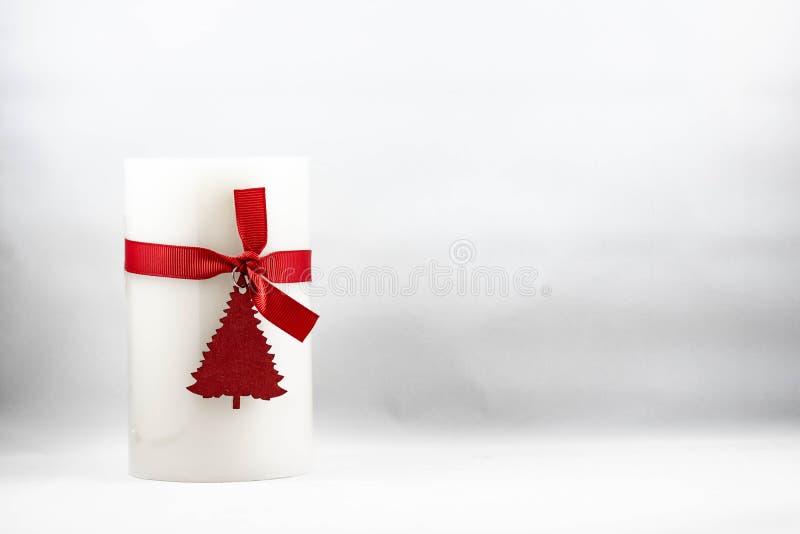 一个圣诞节蜡烛的图象 库存照片