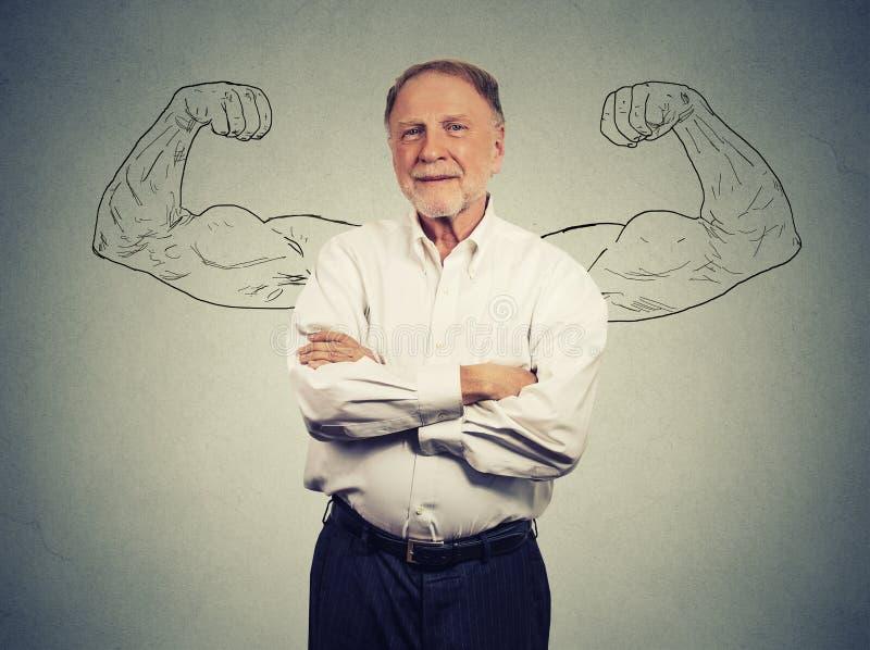 一个坚强的老人的画象 免版税库存图片