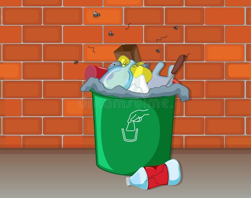 一个垃圾箱 库存例证