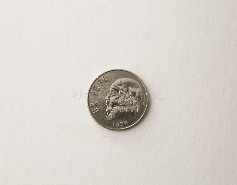 一个墨西哥比索的货币1978年,当八结束 库存照片