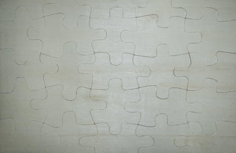 一个复杂木难题 库存照片