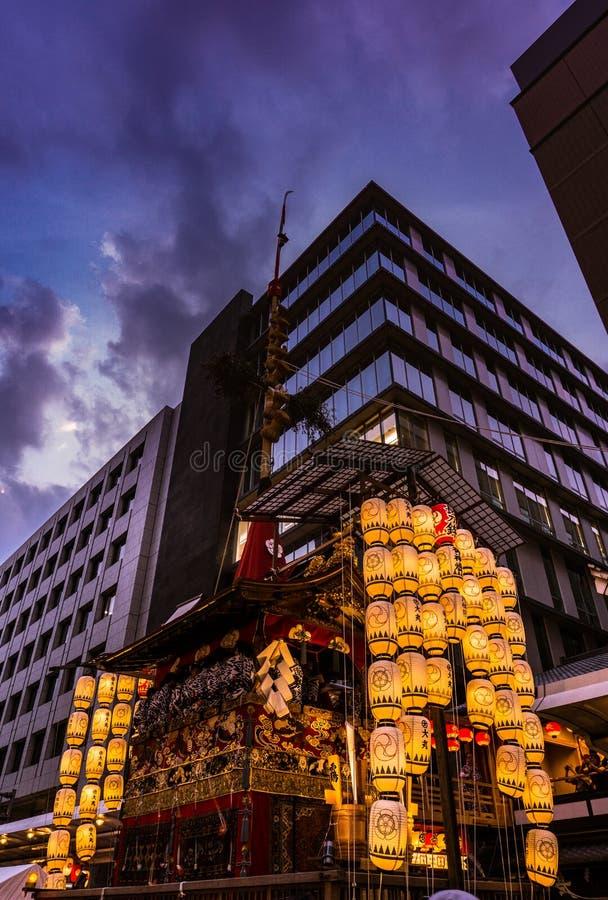 一个夏天节日在京都日本 免版税库存图片