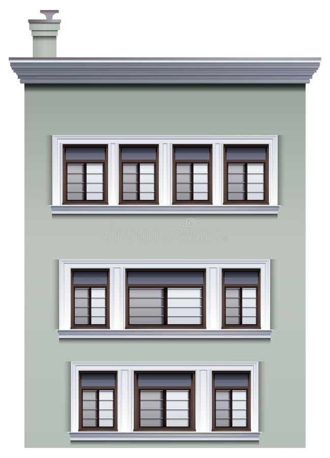 一个多层的大厦 向量例证