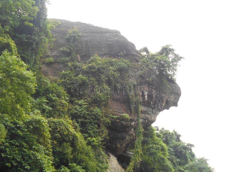 一个大岩石的自然图象 免版税库存图片