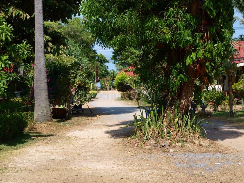 一个大未受破坏的村庄在Thailands密林的心脏 免版税图库摄影