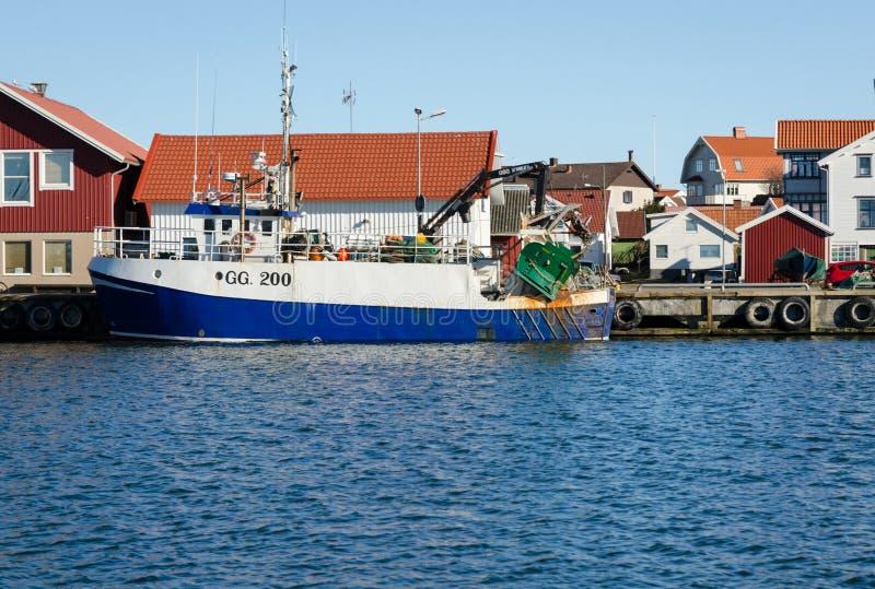 一个大渔船在港口 图库摄影