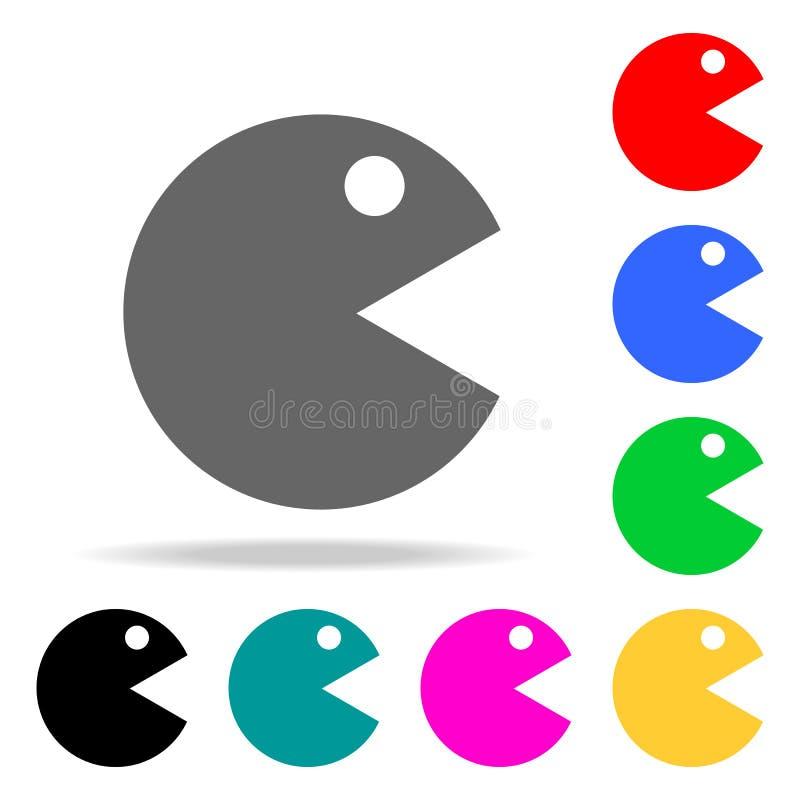 一个大被削的圈子象的抽象图象 在多色的象的元素流动概念和网apps的 websit的象 库存例证