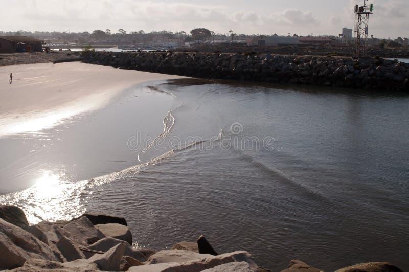 一个太平洋入口在夏天 免版税库存图片