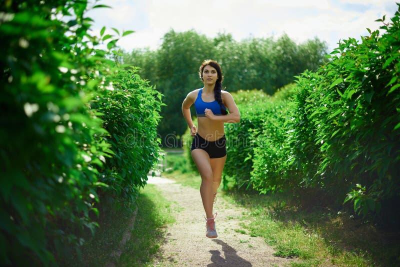 一个女孩参与体育 库存图片