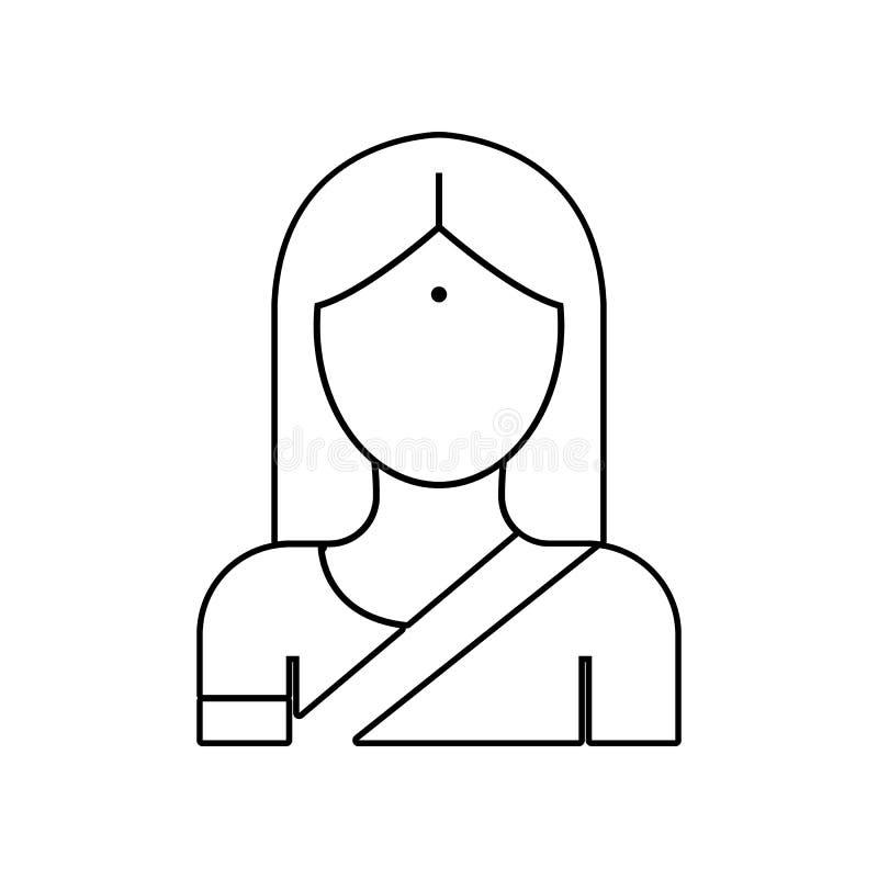 一个女孩的具体化莎丽服象的 r r 库存例证