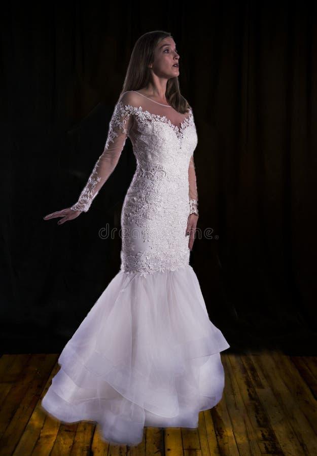 一个女孩的画象新娘的图象的 库存照片