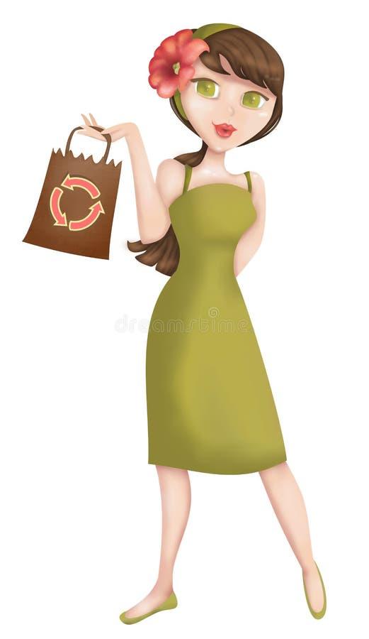 妇女顾客 向量例证