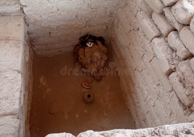 一个妈咪在Chauchilla公墓 免版税库存图片