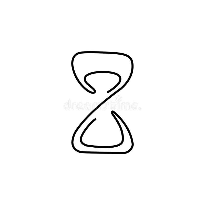 一个实线滴漏图画  时间概念个别线路凹道设计例证 库存例证