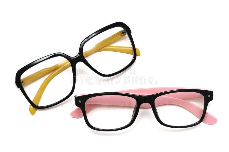 一个对五颜六色的装饰眼镜 免版税库存图片