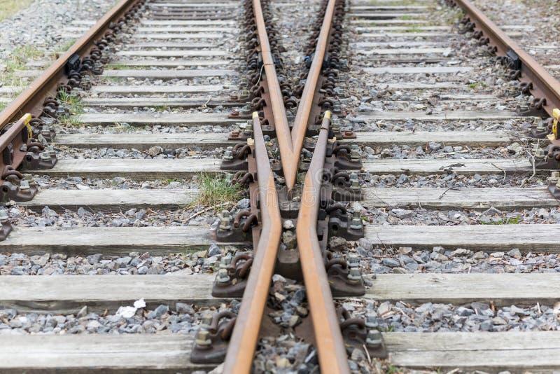 二条铁路轨道 免版税库存照片