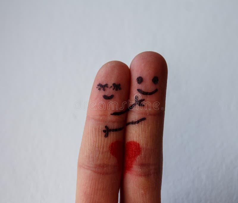 一个对手指展示爱 库存照片