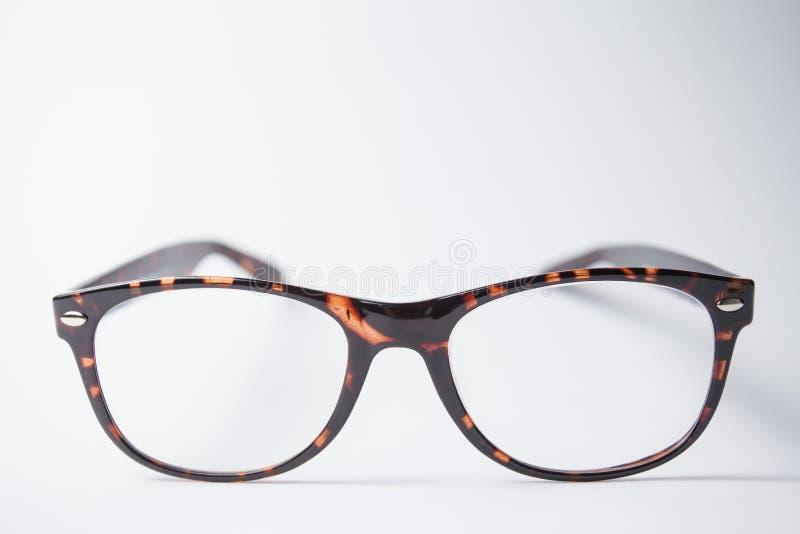 一个对时髦棕色镜片 免版税图库摄影