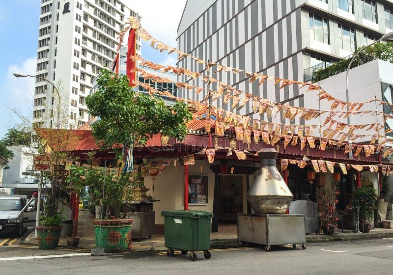 一个寺庙在Bugis,新加坡 免版税库存照片