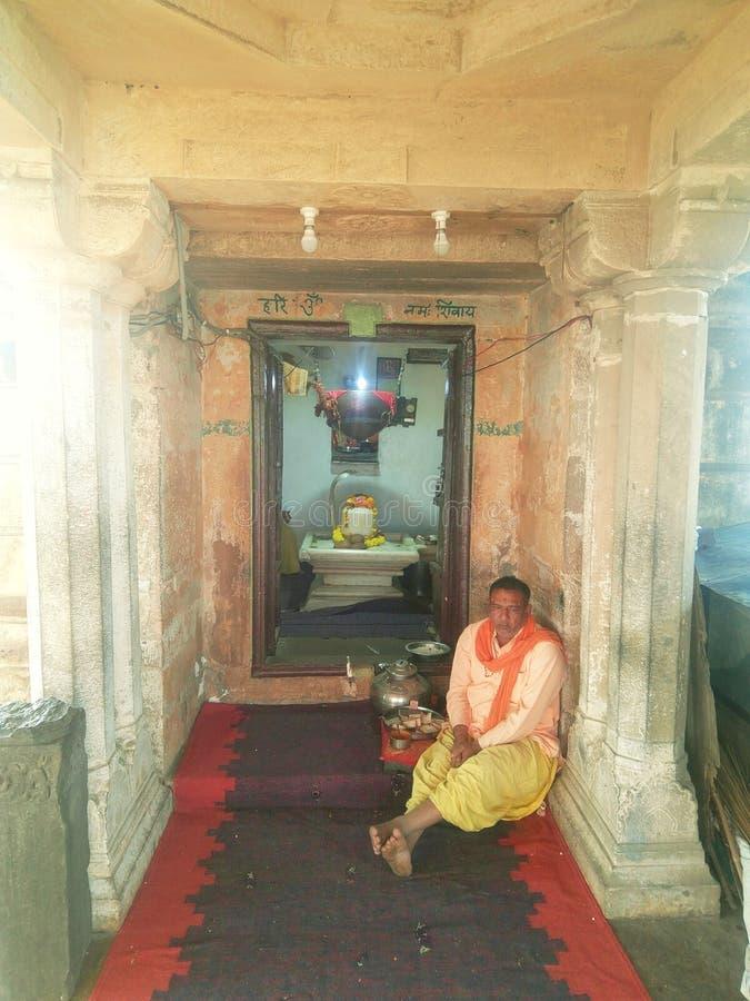 一个寺庙的教士在印度 图库摄影