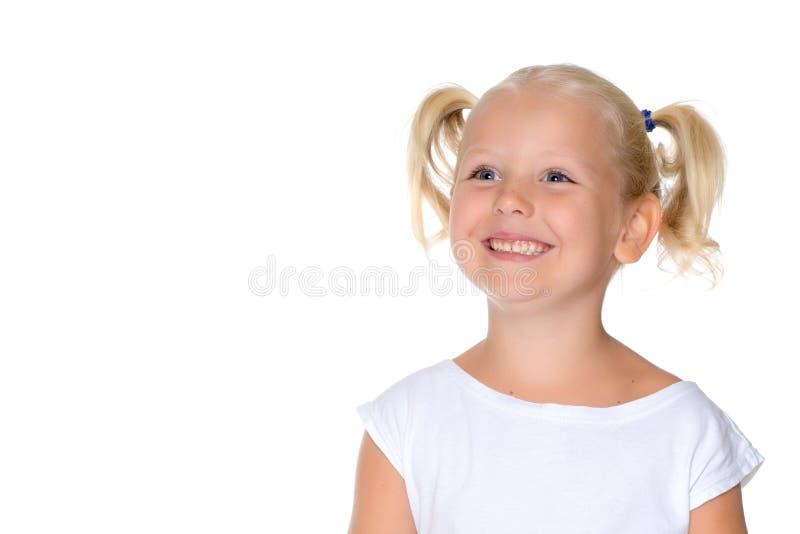 一个小女孩特写镜头的画象 免版税图库摄影