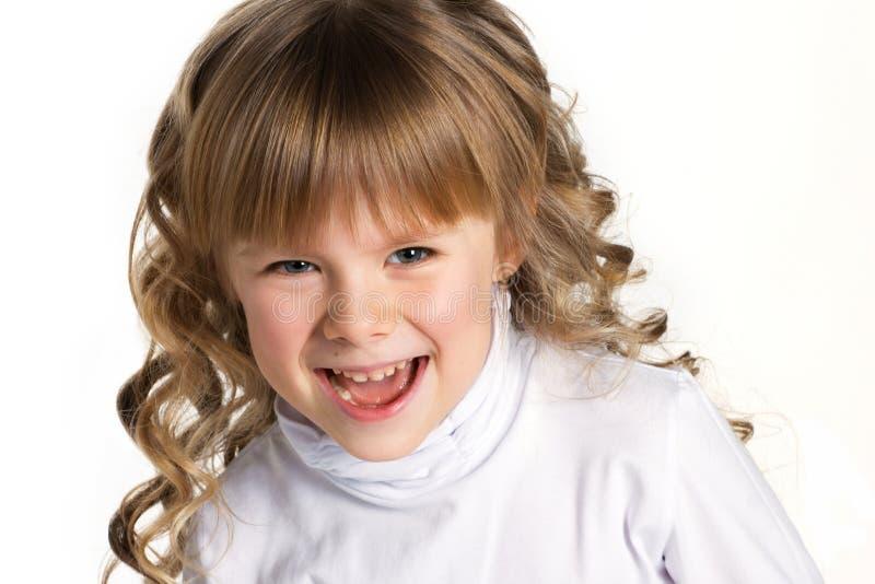 一个小女孩的特写镜头画象 免版税库存图片