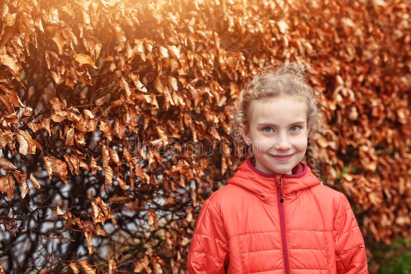 一个小女孩的画像 免版税库存照片