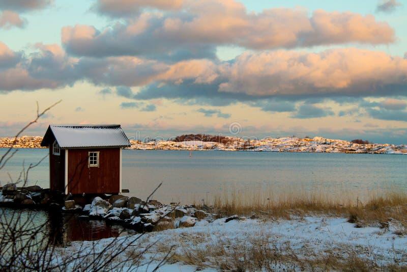 一个小屋在群岛 库存照片