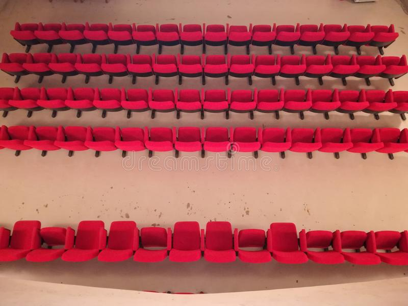 一个小戏院的内部 图库摄影