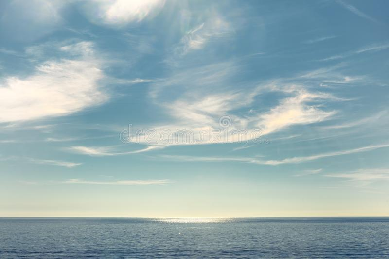 一个小海岛的风景看法 免版税库存照片