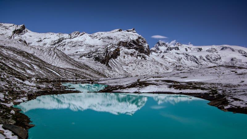 一个小湖的全景 库存图片